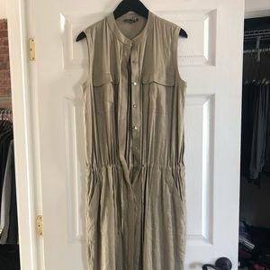 Vince khaki green Maxi dress